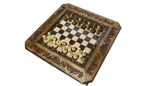 Unique Armenian Handmade Chess//Set Board Game Hand carved from Natural BEECKwood