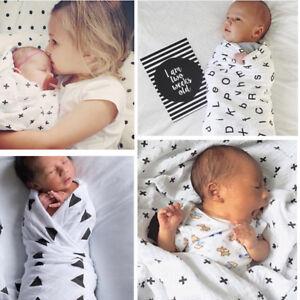 Soft Cotton Newborn Infant Baby Muslin Swaddle Sleeping Blanket Wrap Bath Towel