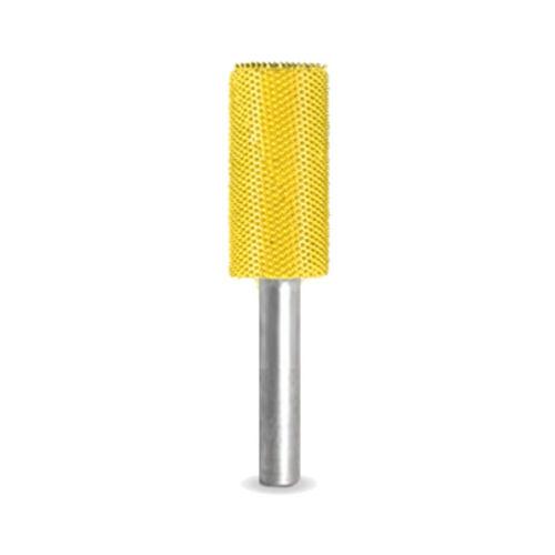 "14C58L-40 - 1//4/"" Shank SABURR TOOTH 5//8/"" Cylinder Burr Bit Fine Yellow"