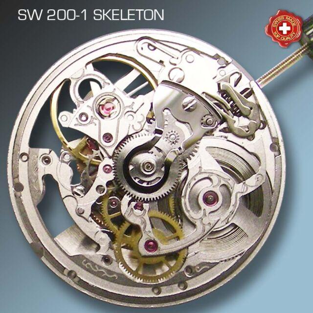 MOVEMENT SELLITA SW200-1 AUTOMATIC, SKELETON , COMPATIBLE WITH ETA 2824 !