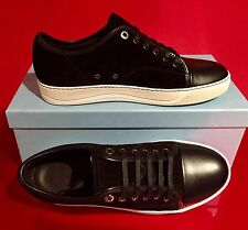 Brand New Men's Lanvin Low-Top Sneakers / Black / UK 8 / US 9 / $495