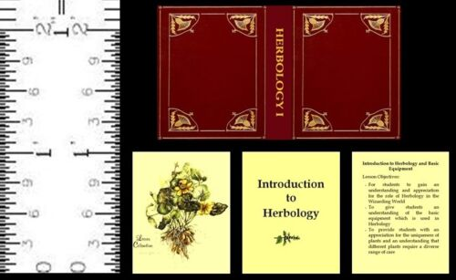 1:12 SCALE MINIATURE WIZARD BOOK INTRODUCTION TO HERBOLOGY