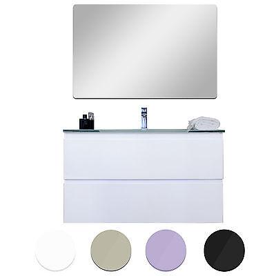 Mobile bagno sospeso in 5 dimensioni 4 colori lucidi design moderno + specchio