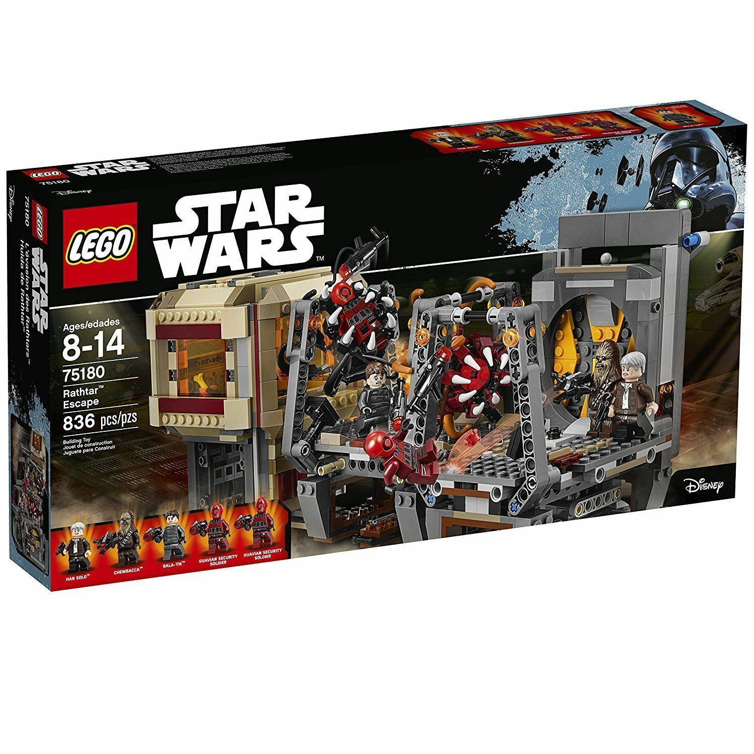 75180 RATHTAR ESCAPE star wars lego NEW legos set FORCE AWAKENS han solo chewey