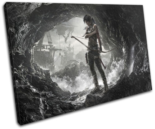 Lara Croft Tomb Raider Gaming SINGLE CANVAS WALL ART Picture Print