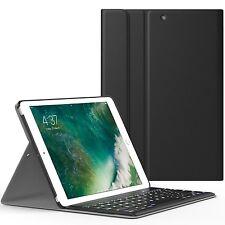 Apple New iPad 9.7 Inch 2017 Bluetooth Keyboard & Leather Slim Case Cover Black