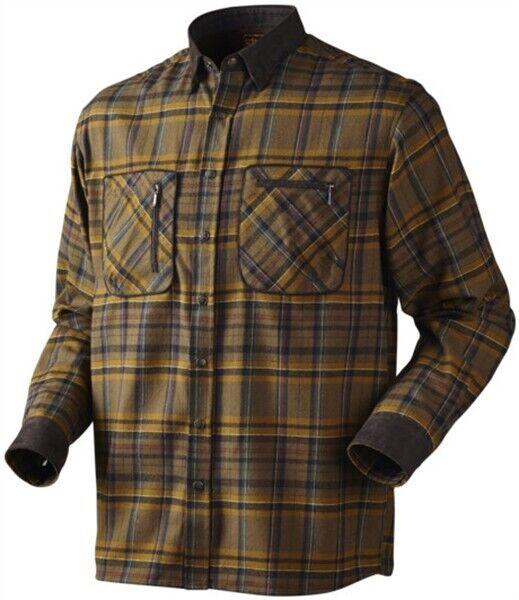 Harkila Pajala camisa cuadros de tabaco para hombre de algodón tiro caza de país