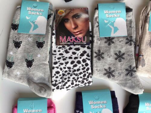 20 pairs ladies women luxury socks coloured design cotton blended size 4-7 NHGTY