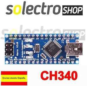 NANO V3.0 ATmega328P CH340 SOLDADO 100% Compatible con Arduino B0006