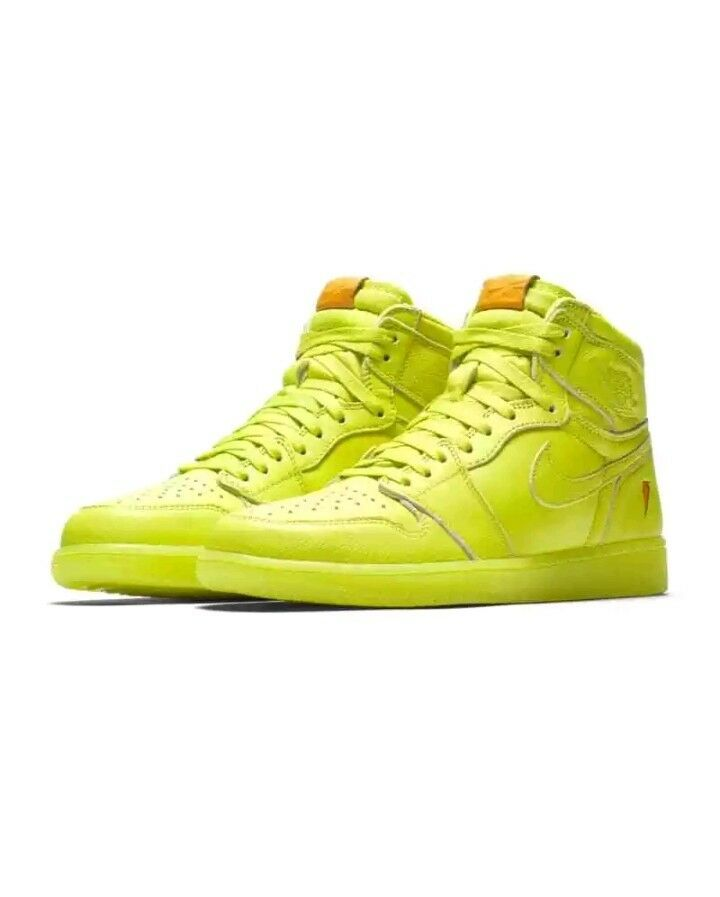 Nike Air Jordan Retro High OG 1 - Lemon Lime Gatorade -Cyber Yellow- AJ5997-345
