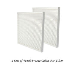 Set of 2 Cabin Air Filter For Nissan Sentra Altima Maxima Murano Quest CF11173