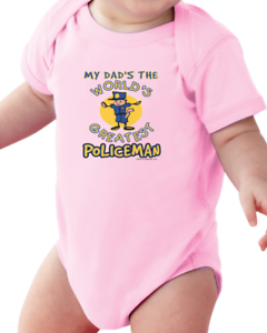 Infant Creeper Bodysuit One Piece T-shirt My Dad/'s Greatest Policeman k-291