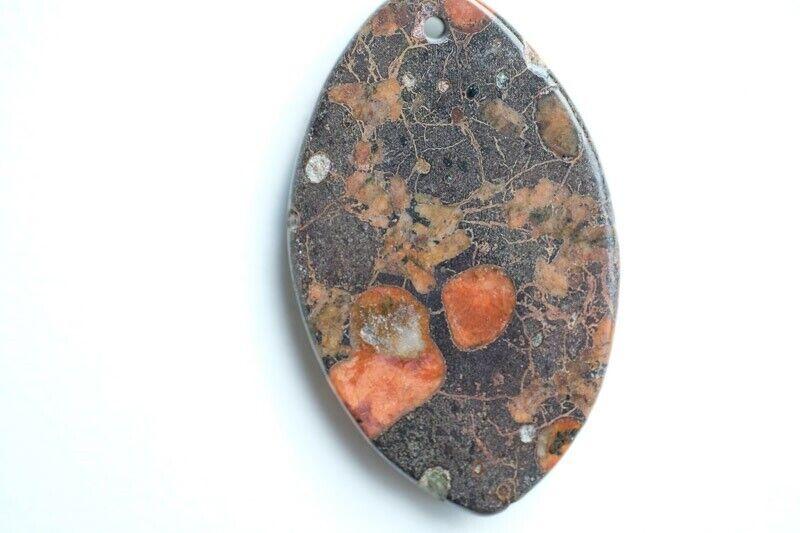 """Smykker og sten, """"Plum blossom """" jaspis Vedhæng"""