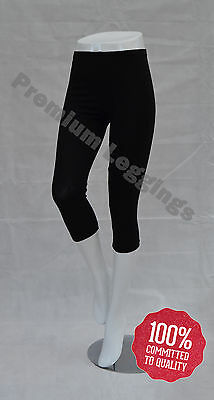 New 3/4 Length Cropped Cotton Leggings, Summer - All Colours and Sizes
