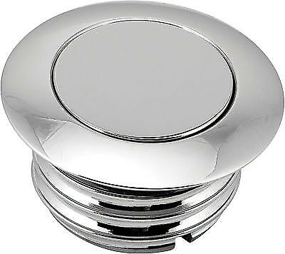 Pop-up Screw in Smooth Vented Gas Cap HARDDRIVE Chrome 03-0329-A