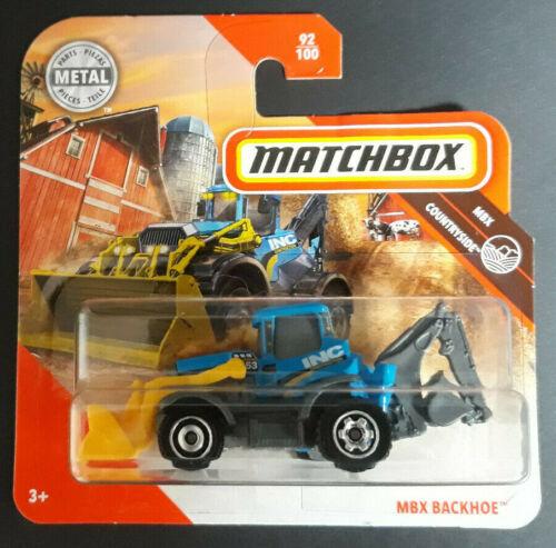 MATCHBOX 2020 MBX BACKHOE MBX COUNDTRYSIDE NEU /& OVP