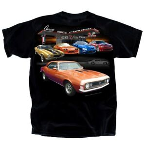GM-Chevrolet-Camaro-Collection-BLACK-Adult-T-Shirt