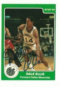 Dale Ellis 1984-85 Star Dallas Mavs signed auto autographed card