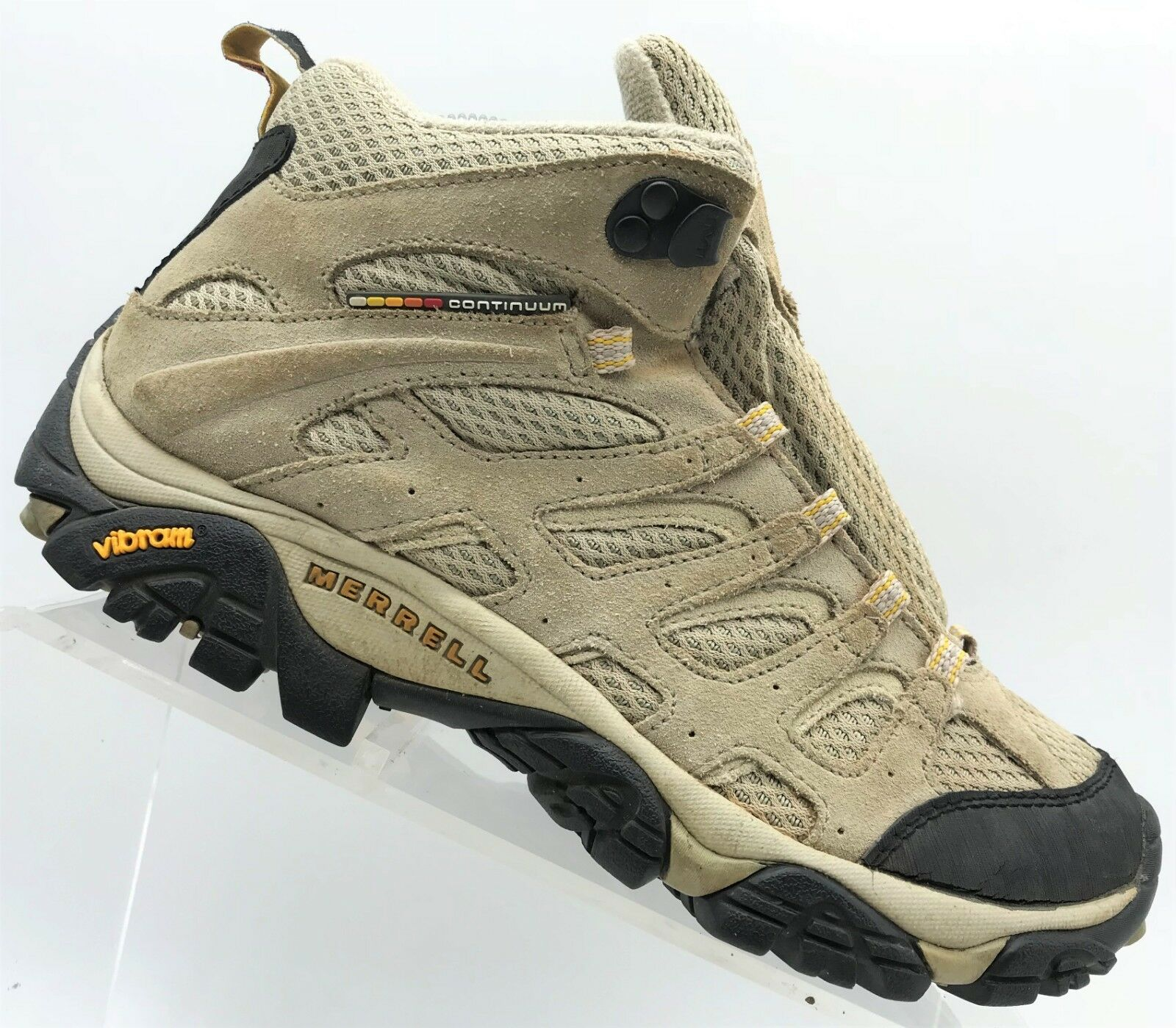Merrell MOAB Ventilator Taupe Suede Lace Up Hiking Boots Women's 7.5