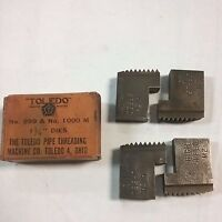 New-toledo Pipe 999 & 1000 M Die Insert Sets - (choice Of Size From List)
