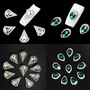 10Pcs-3D-Rhinestone-Crystal-Alloy-DIY-Decoration-Tips-Nail-Art-Glitter-Charms
