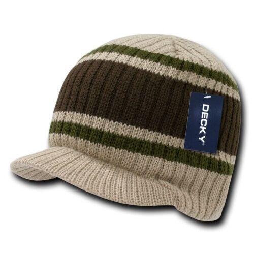 1 Dozen Beanies Striped GI Campus Jeep Skull Caps Hats Ski Wholesale