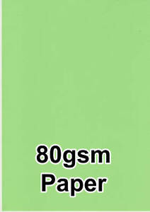50-Verde-Colore-80gsm-A4-Fotocopiatrice-Inchiostro-Jet-Stampante-Laser-Carta
