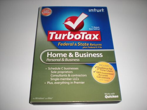 Turbotax 2012 Home /& Business w// state New in box.