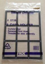 Crystal Clear Acrylic 9-Card Holder Thread Screw Holes PKK Ultimate Collection