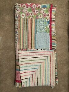 Pottery Barn Teen Full Size Quilt Bedding With 4
