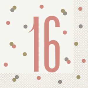 New Rose Gold Glitz Age 16 Happy 16th Birthday Party Supplies Decorations Ebay