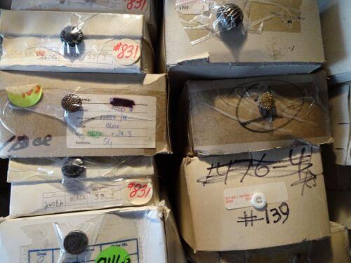 Vintage Ornate Shank Buttons Spiral Swirl Gold Black 15mm Lot of 10 B8-1