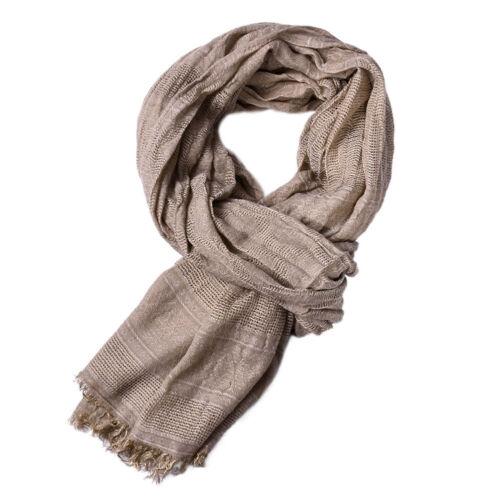 EE/_ ND/_ CN/_ Men Winter Fashion Solid Color Neck Wrap Warm Soft Tassel Long Scarf