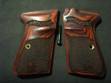 Walther PPKS PPK/S S&W Rosewood Checkered Pistol Grips Fleur-De-Lis WITH LOGO!