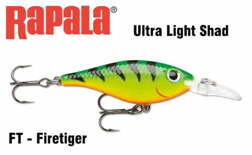 3 g Running depth 1.2-1.5m Best for trout Rapala Ultra Light Shad ULS04 4 cm