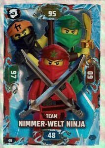 Team Nimmer-Welt Ninja LEGO Ninjago Serie 5 Karte Nr 46 Helden Karte