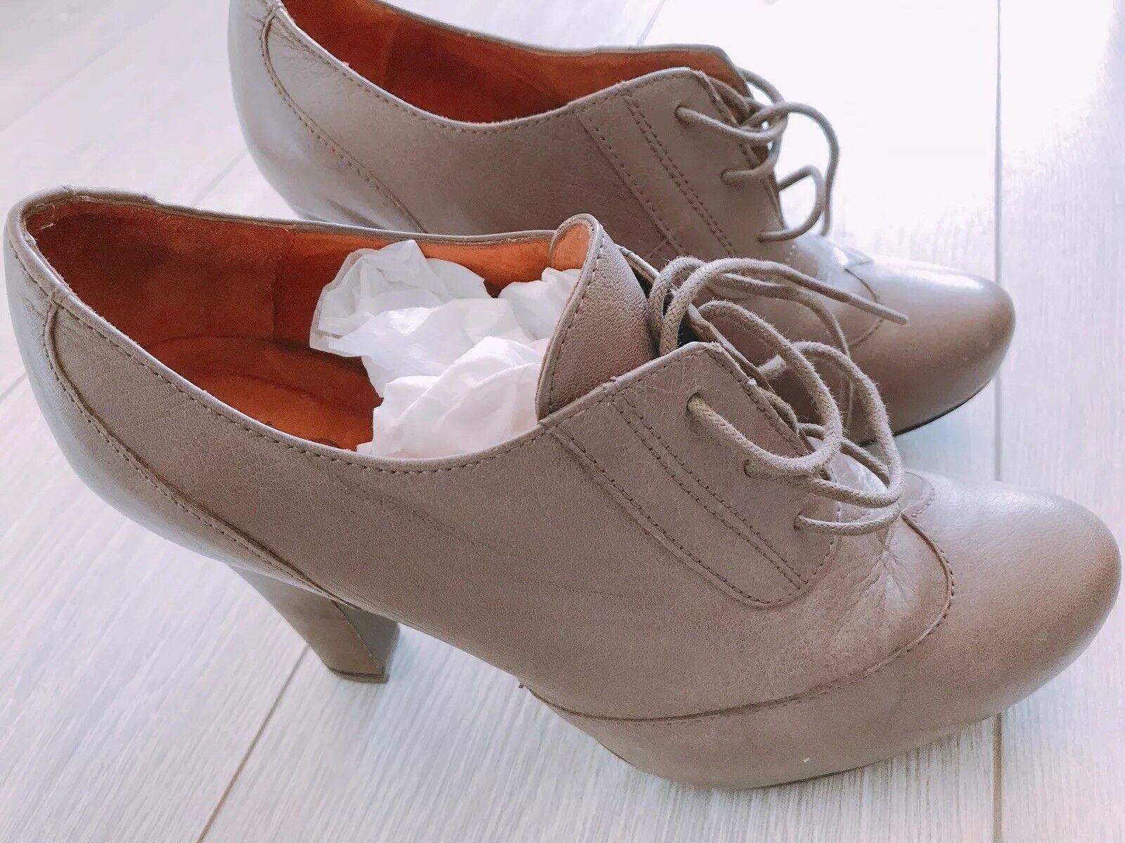 High Heel Derbies UNISA Ankle-Stiefel Gr. 38 Taupe NEUWERTIG NP