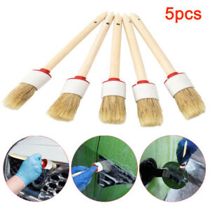 5pcs-Soft-Car-Detailing-Brushes-for-Cleaning-Dash-Trim-Seats-Wheels-Wood-Handle