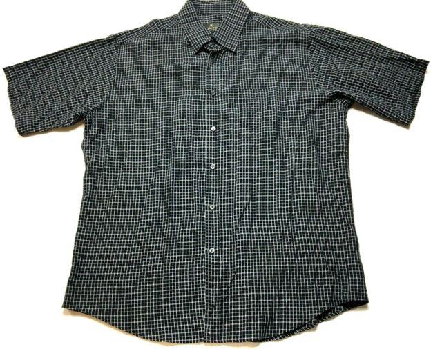 Bugatchi Uomo Mens Colorful Plaid Front Pocket Button Front Shirt Size XL