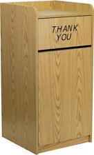 Flash Furniture Wood Tray Top Receptacle in Oak Finish  MT-M8520-TRA-OAK-GG NEW