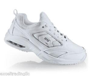 Women's Shoes 41.5 Comfort Shoes Sfc Shoes For Crews Revolution White Leather Women's 9141 Size 10