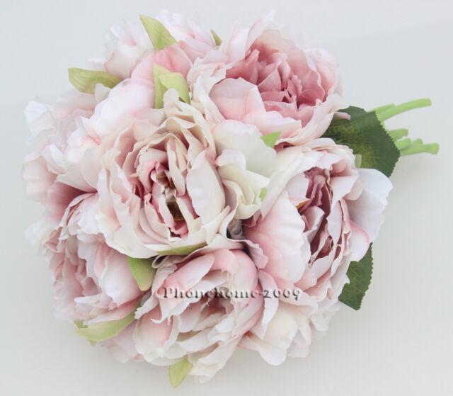 1 Bouquet Cameo Pink Wedding Flower rose Peony Bride Bridesmaid Flower Girl Posy