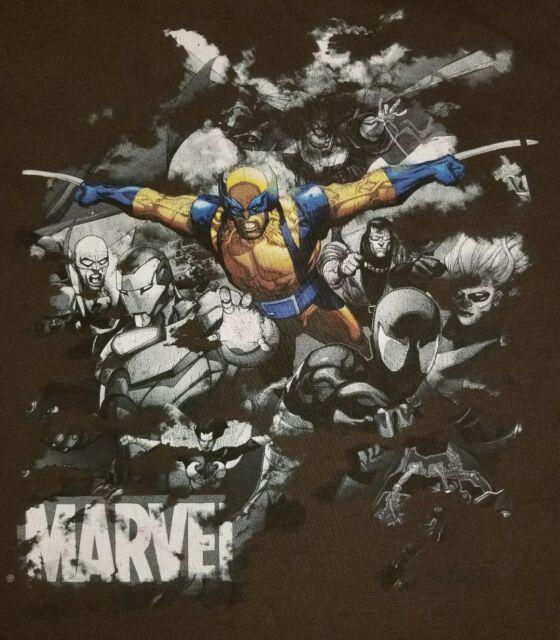 LARGE Mad Engine Marvel Wolverine T-shirt: Comics Punk Rock Retro