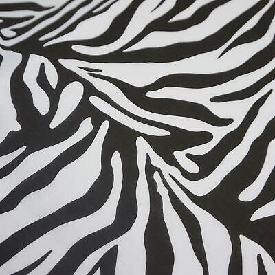 Per Metre White Polycotton Fabric with 20 mm Black Spots