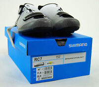Shimano Sh-rc7 Road Carbon Cycling Shoes,white, 47 / 11.8