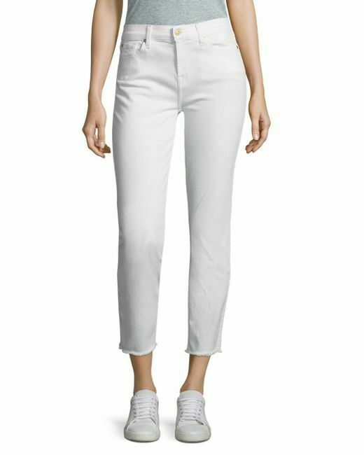7 For All Mankind Mujer blancoo  Roxanne Tobillo Elástico Vaqueros,Nwt 29 (6)    compras de moda online