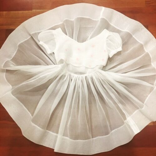 Vintage 1950's Full Circle Sheer Angelic Organza T