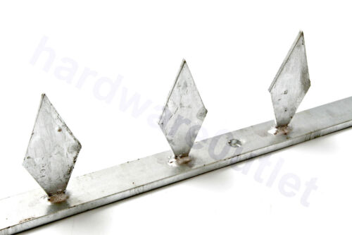 1 Mtr Long GALVANISED or BLACK Security SPIKES Rail Head SPIKE1 Wall or Gate