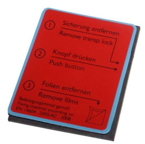 Ersatz Magnet-Gel Klebepad für Rauchwarnmelder Pyrexx PX-1 PX-1C Original