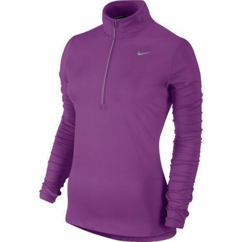 Nike Women's SZ XS Element Dri-FIT Half-Zip Running Top 717421 513 Purple/Silver